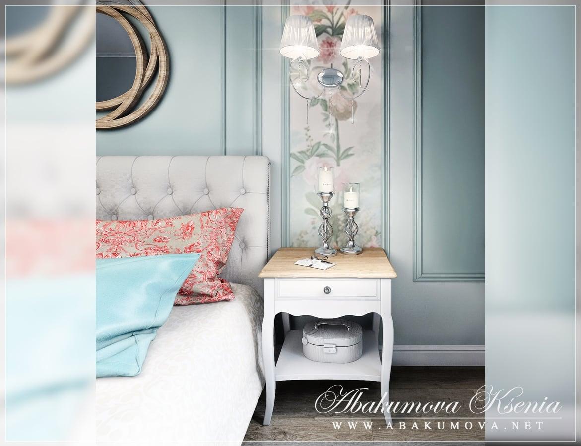 Дизайн интерьера - спалья - студия Абакумовой Ксении