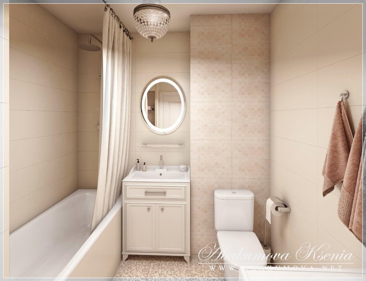 Дизайн интерьера - санузел - студия Абакумовой Ксении