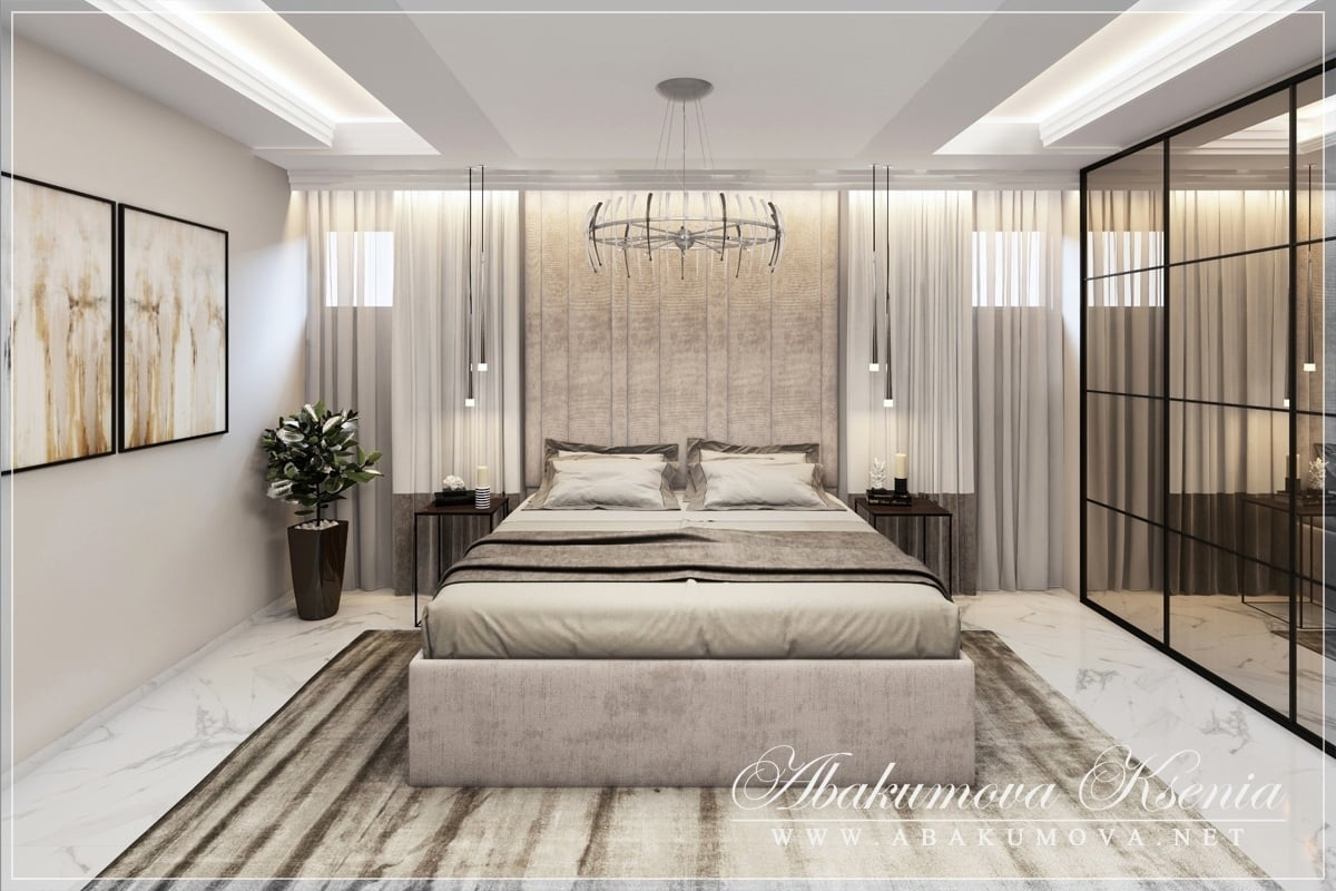 Дизайн интерьера - спальня - студия Абакумовой Ксении