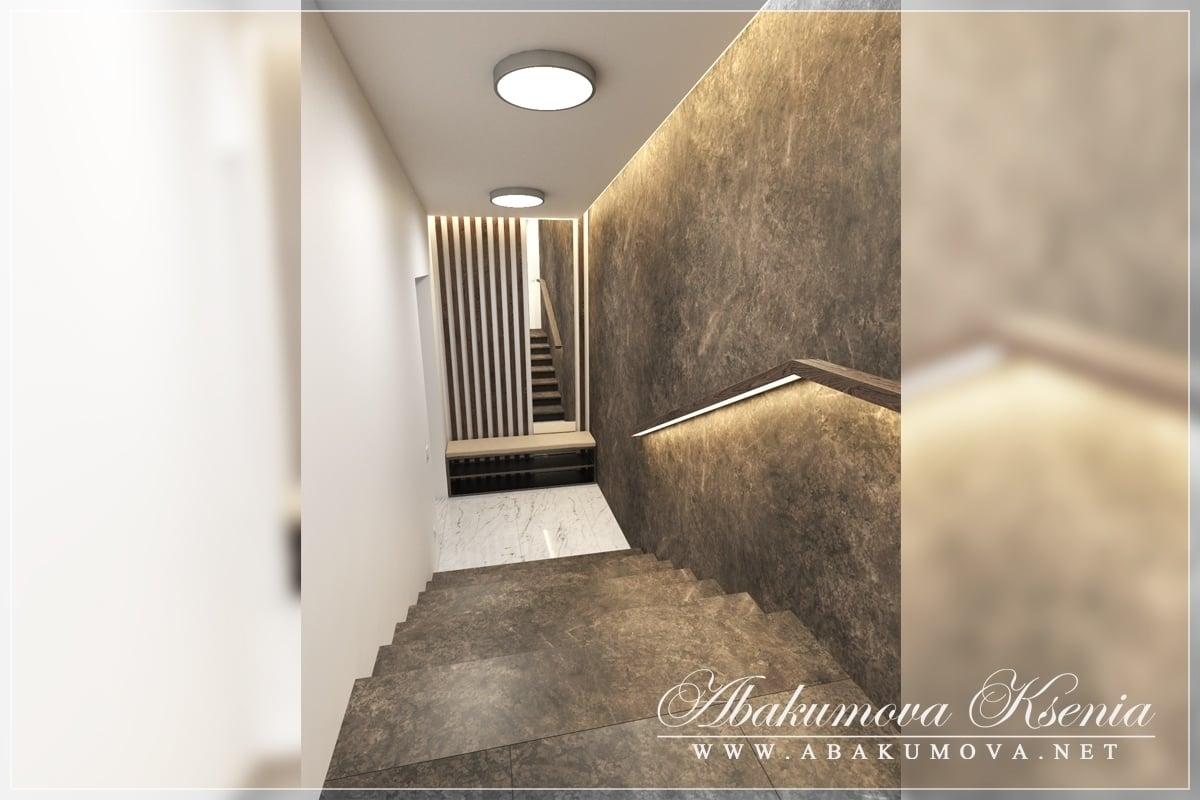 Дизайн интерьера - лестница - студия Абакумовой Ксении